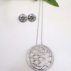 925 Silver Set ( Necklace & Earings)